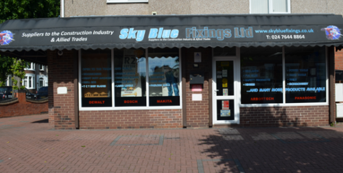 Sky Blue Fixings Shopfront