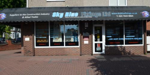 Sky Blue Fixings Shopfront