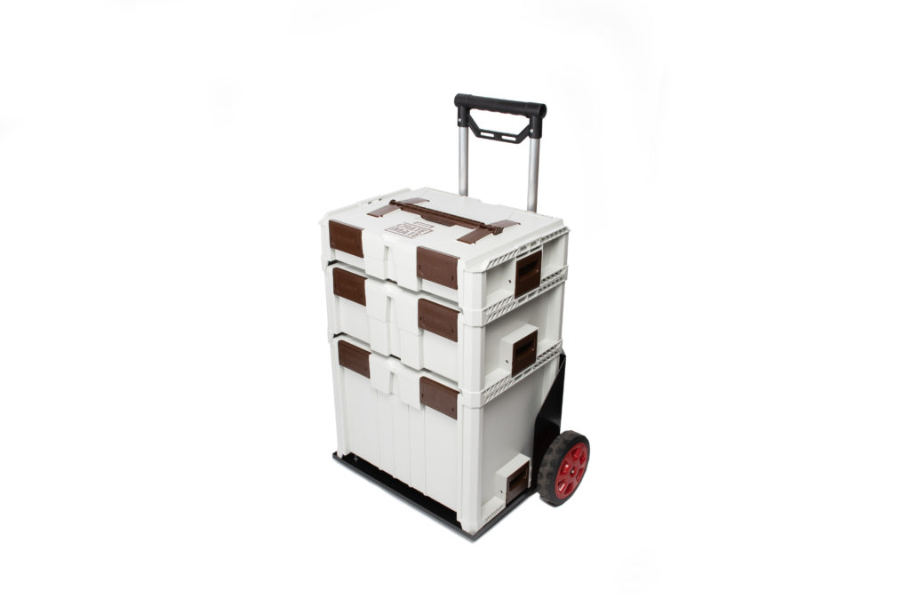 Reisser Crate Mate Metal Trolley With Handle Sky Blue